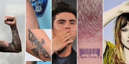 Kelly Clarkson, Keith Urban, P!nk, Zac Efron, David Beckham, celebrities tattoo alert, best tattoo ideas