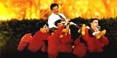 Dead Poets Society, A Feel Good; life's best is feel good movies, top best list of feel good movies, Robin Williams, Cool students in red uniform