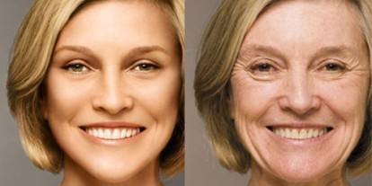Deceitful Digital Enhancements, extreme face photoshop before and after, photoshop face and body enhancement, young old blond woman before and after