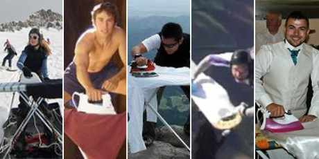 New sport, extreme ironing, ironing no more boring, cool people iron clothes, ironing in wedding, extreme sports, skydive ironing