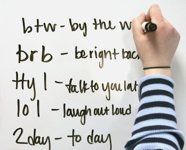 Using Acronyms, internet and text messaging acronyms, teenage and organizational acronym