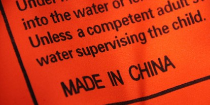 Made in China label, red hot product, assembled in China, China factory cheap labor to save company's money