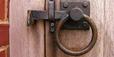 Rusty old knob, door lock, wooden door, brown and bronze door knob, old fashioned, antique door, Privacy a commodity, privacy issue of facebook and google, online advertising tracking and analyzing activities and behaviors, intrusive privacy, money for privacy, privacy for a day
